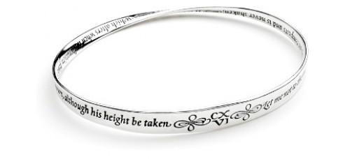 Shakespeare's Sonnet 116 Mobius Bracelet