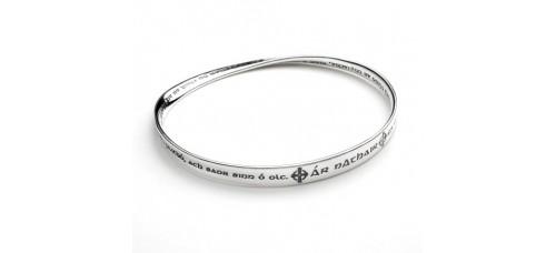 Gaelic Lord's Prayer Mobius Bracelet