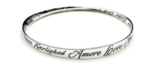 Love In Many Languages Mobius Bracelet