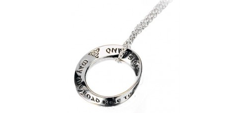 May The Road Rise To Meet You Mobius Necklace