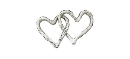 Together Linked Hearts Paperweight by Tamara Hensick