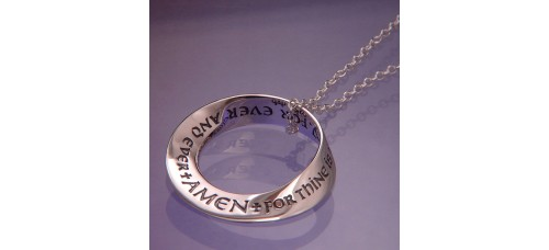 Lord's Prayer Mobius Necklace
